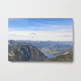 Paraglider above the Austrian Alps 1 Metal Print