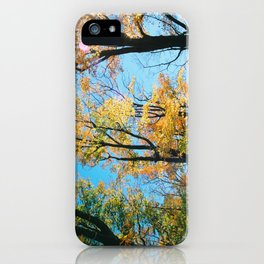 Early Autumn Sunflare iPhone Case