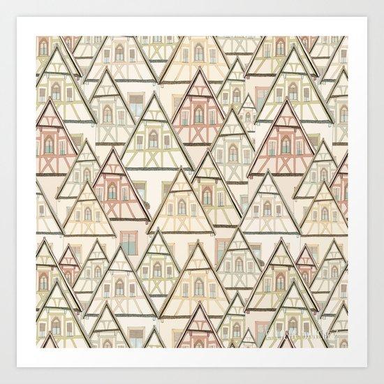 Pattern Houses Art Print