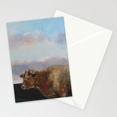 cow thinking about grass Stationery Cards