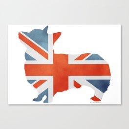 Union Jack Corgi Canvas Print