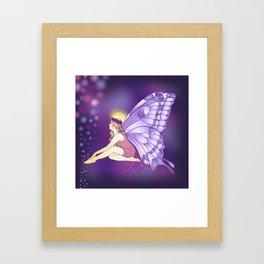 Purple Pixie Framed Art Print