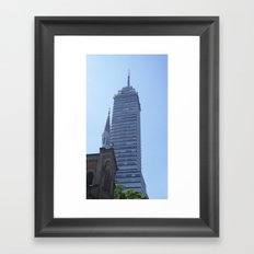 Two Towers Framed Art Print