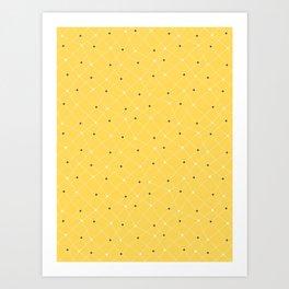 Chemistry Class Doodles - Yellow Art Print