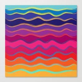 Wavy Color Tone Canvas Print