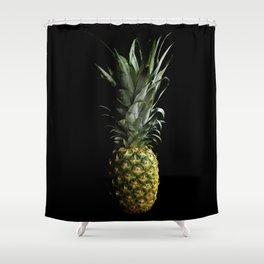 Dark Pineapple Shower Curtain