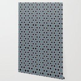 Transparent Floral Sushi Geometric Pattern Wallpaper