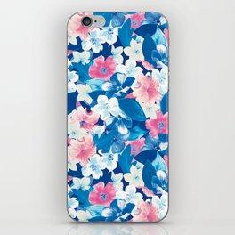 Bloom Blue iPhone Skin