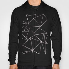 Ab Dotted Lines Pink on Blue Hoody