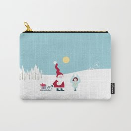 Santa and the little Angel Carry-All Pouch