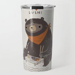 sushi bear Travel Mug