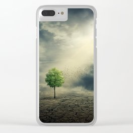 Drought on Earth Clear iPhone Case