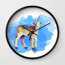 Litte Lamb Wall Clock