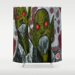 """""""Vampires"""" Darrell Merrill Shower Curtain"""