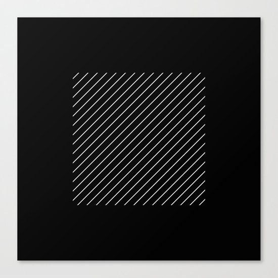 Minimalism - Black and white, geometric, abstract Canvas Print