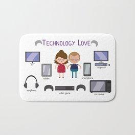 Technology Love Bath Mat