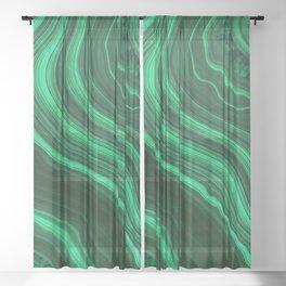 Malachite Texture 08 Sheer Curtain