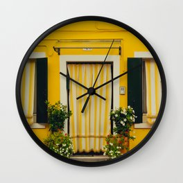 Burano Island IV Wall Clock