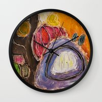 feet Wall Clocks featuring Feet by Jessica Petrylak