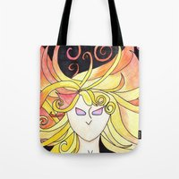 rwby Tote Bags featuring Yang Xiao Long by Sebastian DeTemple