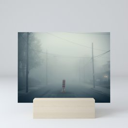 foggy broken street Mini Art Print