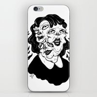 agnes cecile iPhone & iPod Skins featuring Europa, Agnes and Phyllis by Anna Lisa Illustration