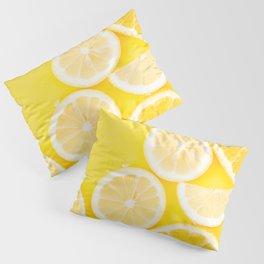 Yellow Watercolor Lemon & Orange Pillow Sham