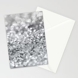 Silver Gray Lady Glitter #1 #shiny #decor #art #society6 Stationery Cards