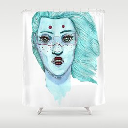 Her eyes Shower Curtain