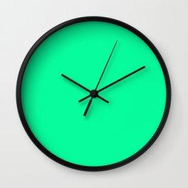 Spring Green Colour Wall Clock