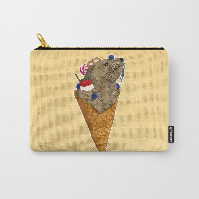 Brown Seal Ice Cream Carry-All Pouch
