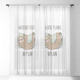 Weekend Plans Sheer Curtain