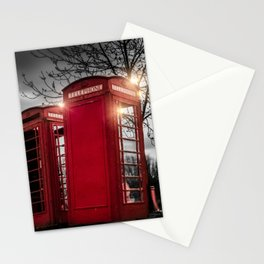 Red Phone Box - Art 1 Stationery Cards