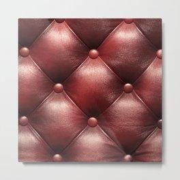 Leather diamonds Metal Print