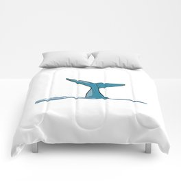 Whale fish fin Comforters