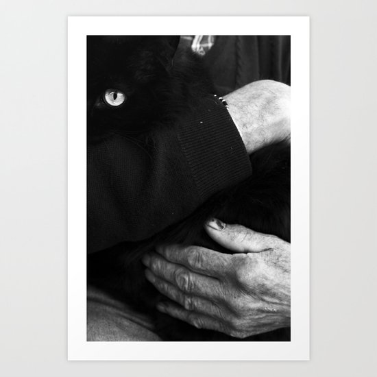 CARESS AND GO TO BED. Art Print