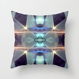 Abstract angular glow Throw Pillow
