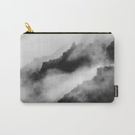 Foggy Mountains Black and White Carry-All Pouch