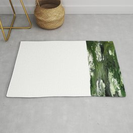 Abstract Acrylic Painting THE FOREST Rug