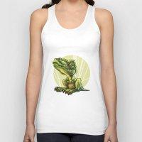 dinosaur Tank Tops featuring Dinosaur by SansArt