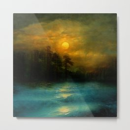Hope, in the turquoise water. Metal Print