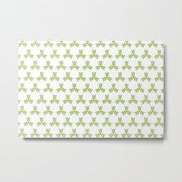 Three leaves pattern Metal Print