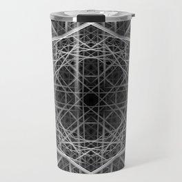 Black and white light beams pattern Travel Mug