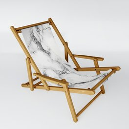 White Marble Texture Sling Chair