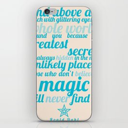 Roald Dahl / Typography Quote iPhone Skin