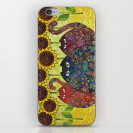 Cats & Sunflowers iPhone Skin