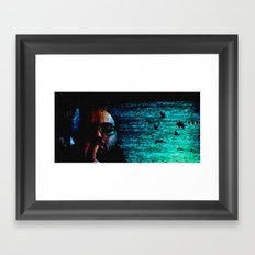 only when I loose myself Framed Art Print