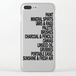 What a Plein Air Oil Painter Needs for a Perfect Day... Clear iPhone Case