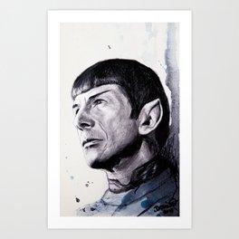 Goodbye Mr. Spock - Leonard Nimoy Art Print