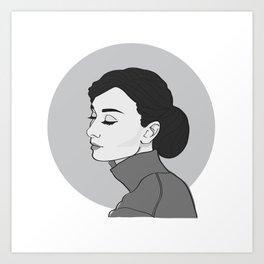 Miss Hepburn Art Print